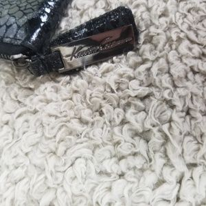 Kenneth Cole Bags - Kenneth Cole Black & Silver Faux Snake Skin Wallet